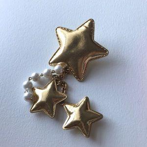 Accessories - Cute gold pastel goth fairy kei egl Star hair clip